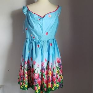 NWT Hell Bunny Easter Tulip Dress Size XL Modcloth